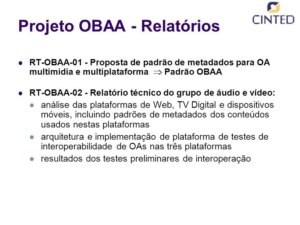 Projeto OBAA - Relatórios