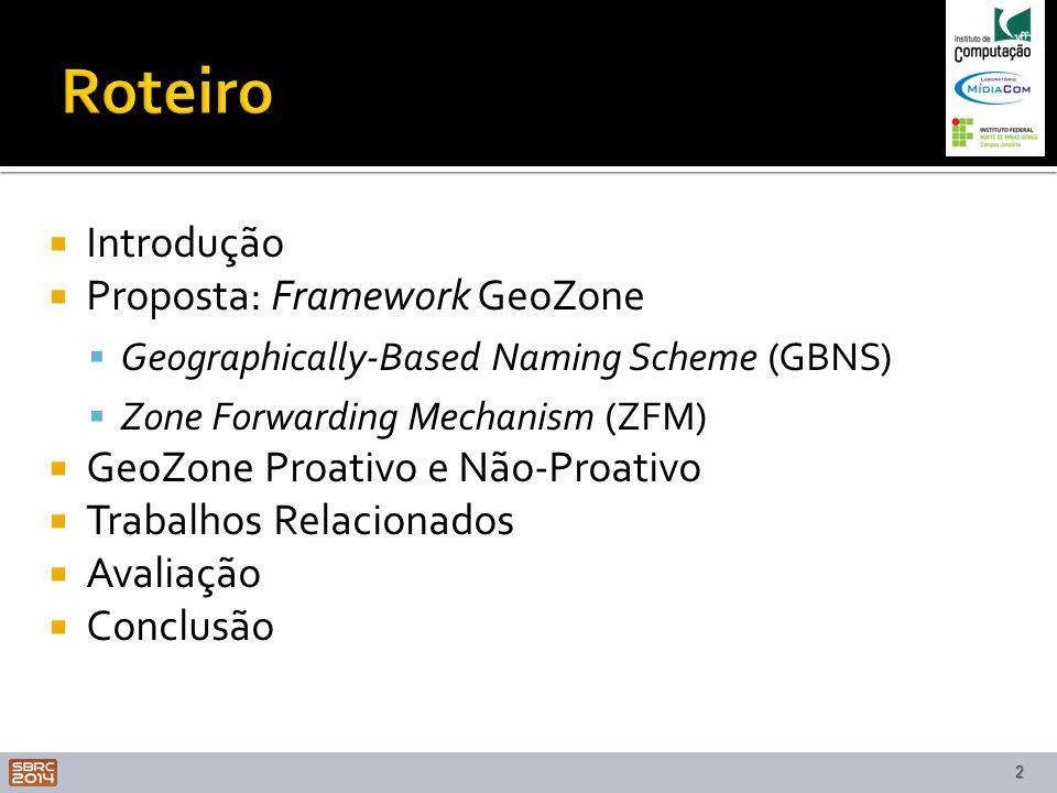 Roteiro Introdução Proposta: Framework GeoZone