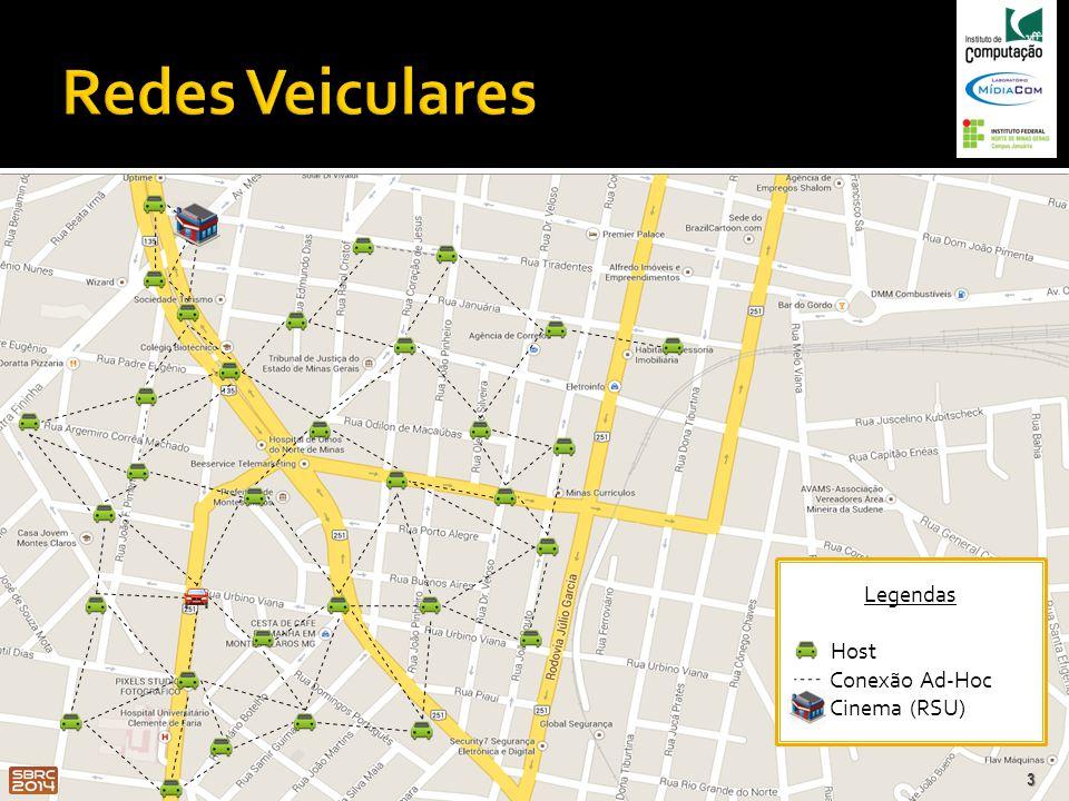 Redes Veiculares Legendas Host Conexão Ad-Hoc Cinema (RSU)