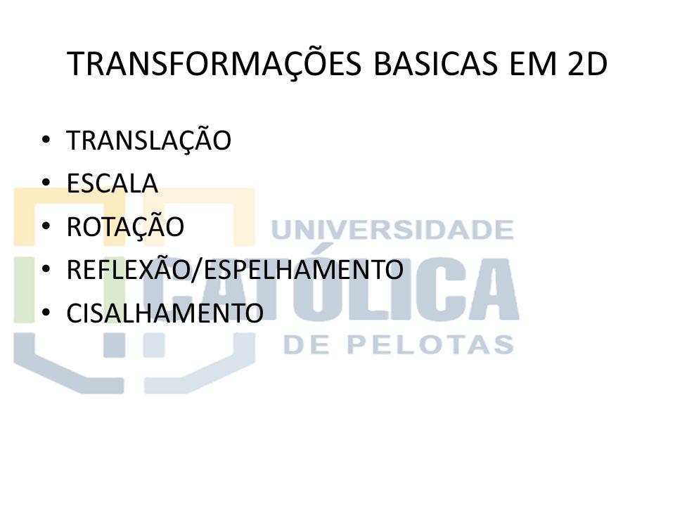 TRANSFORMAÇÕES BASICAS EM 2D
