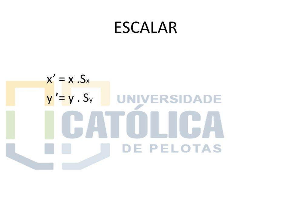 ESCALAR x' = x .Sx y '= y . Sy