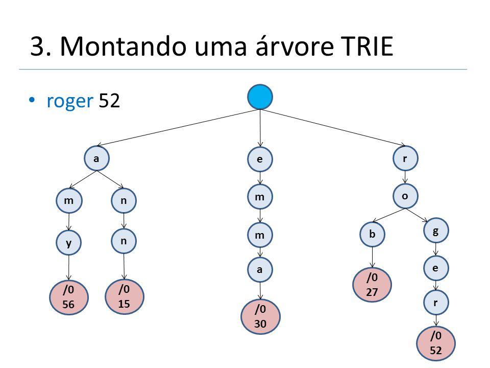 3. Montando uma árvore TRIE