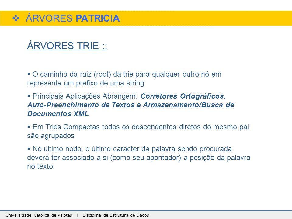 ÁRVORES PATRICIA ÁRVORES TRIE ::