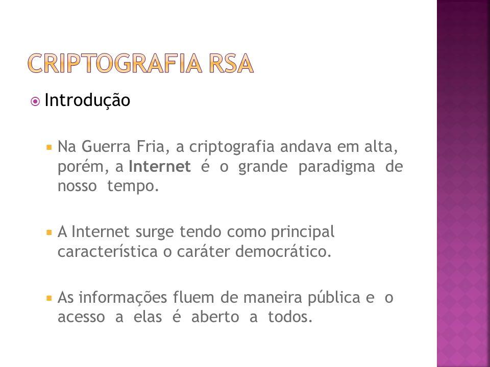Criptografia RSA Introdução