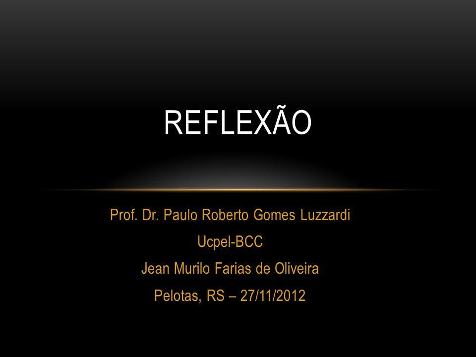 Reflexão Prof. Dr. Paulo Roberto Gomes Luzzardi Ucpel-BCC