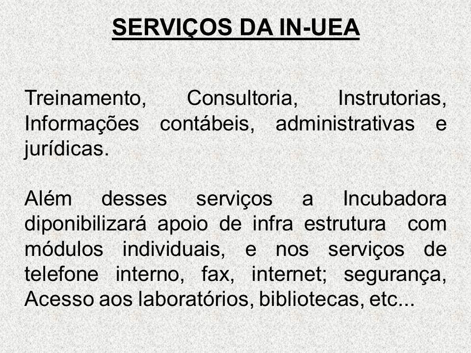 SERVIÇOS DA IN-UEA Treinamento, Consultoria, Instrutorias, Informações contábeis, administrativas e jurídicas.