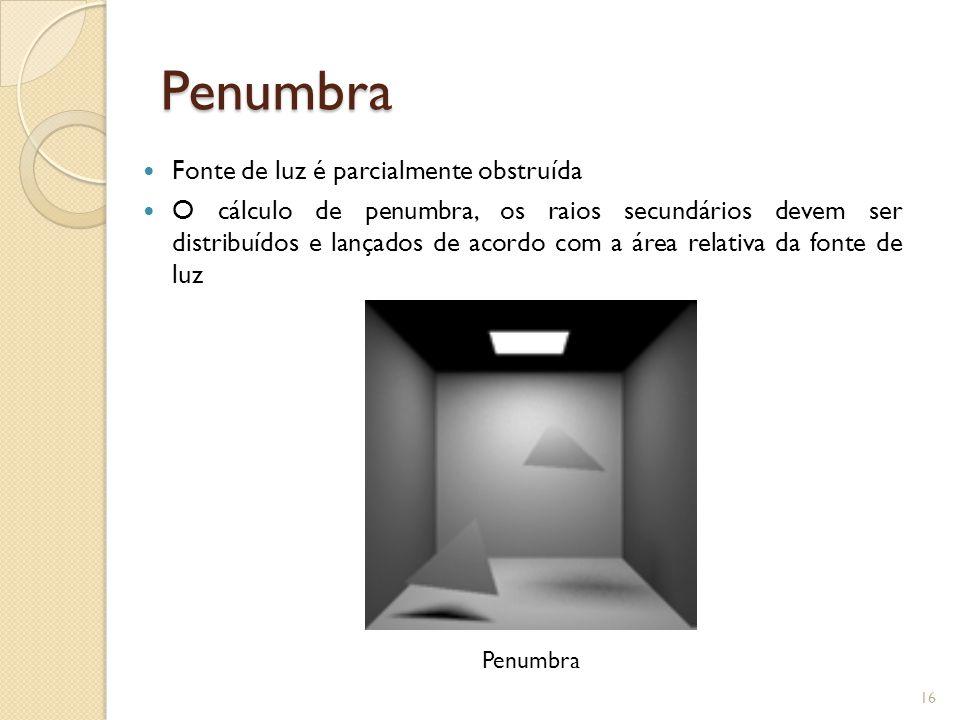 Penumbra Fonte de luz é parcialmente obstruída