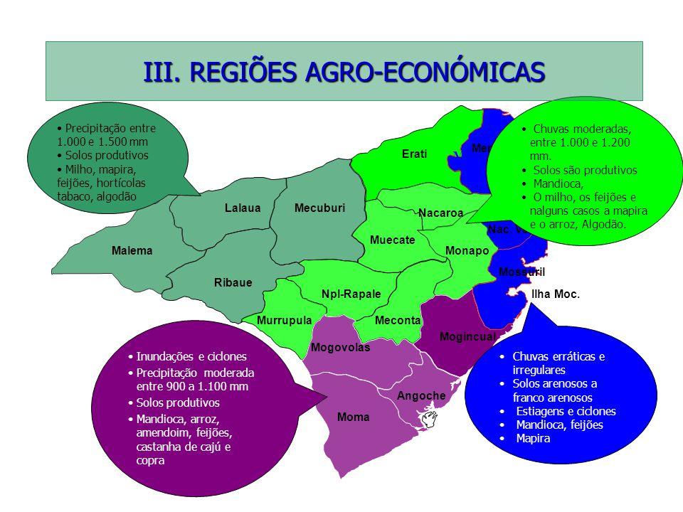 III. REGIÕES AGRO-ECONÓMICAS