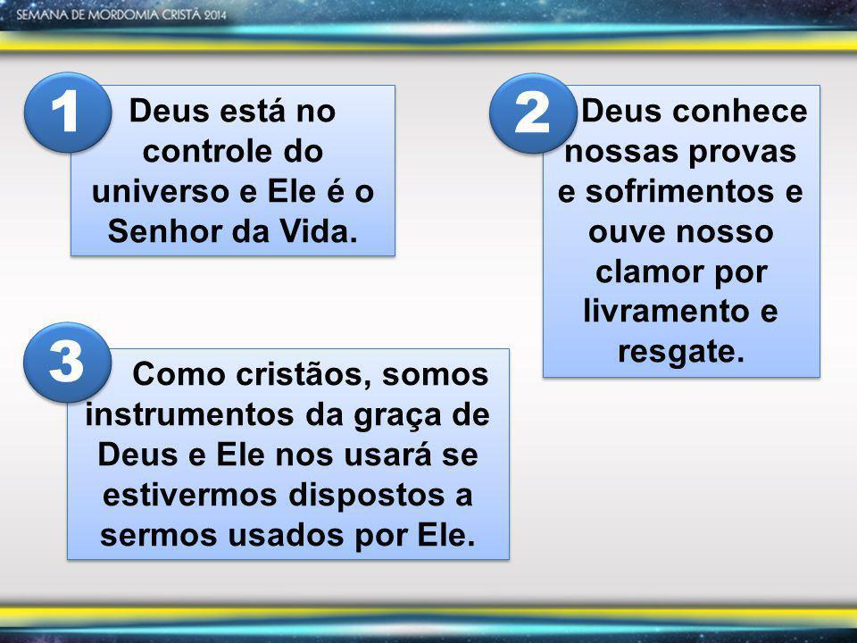 Deus está no controle do universo e Ele é o Senhor da Vida.