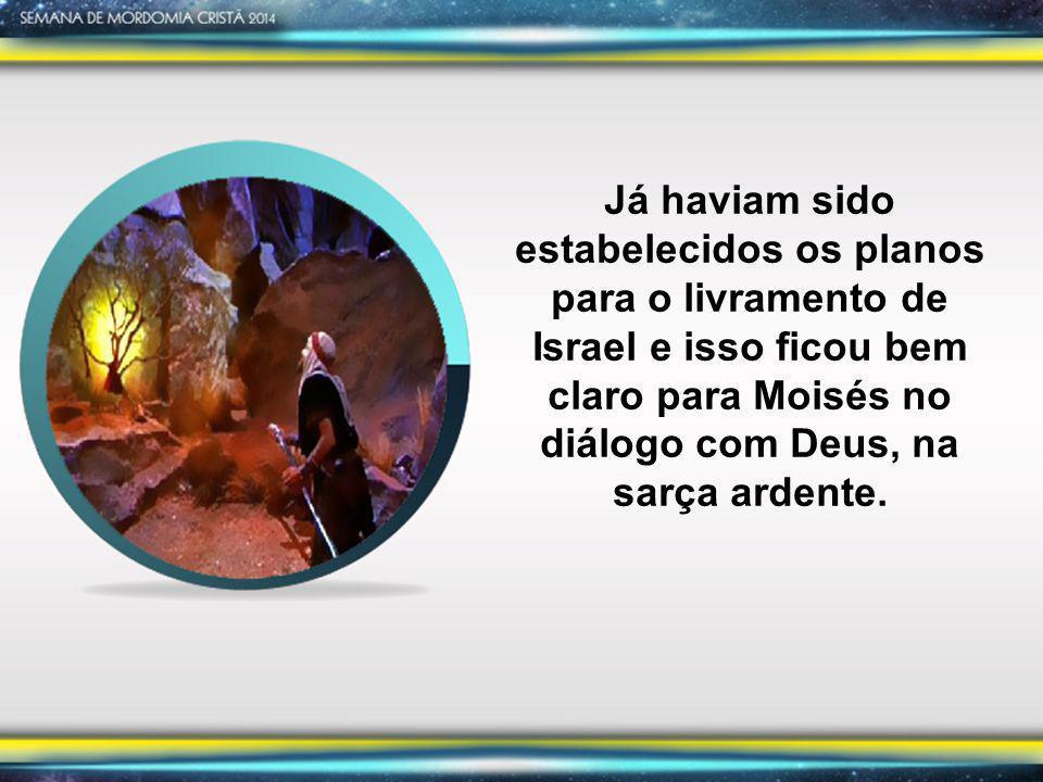 Já haviam sido estabelecidos os planos para o livramento de Israel e isso ficou bem claro para Moisés no diálogo com Deus, na sarça ardente.