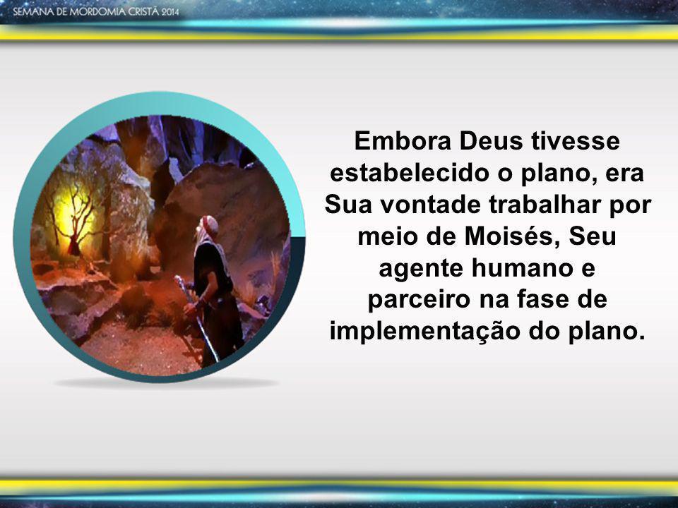 Embora Deus tivesse estabelecido o plano, era Sua vontade trabalhar por meio de Moisés, Seu agente humano e parceiro na fase de implementação do plano.