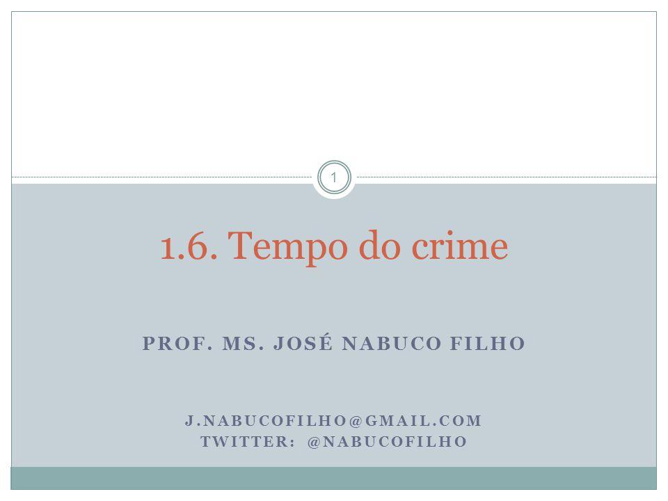 Prof. Ms. José Nabuco Filho Twitter: @Nabucofilho
