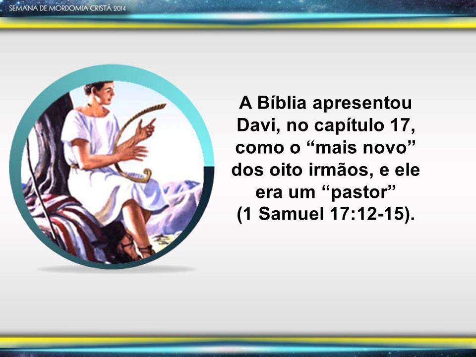 A Bíblia apresentou Davi, no capítulo 17, como o mais novo dos oito irmãos, e ele era um pastor