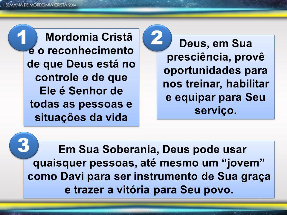 Mordomia Cristã é o reconhecimento de que Deus está no controle e de que Ele é Senhor de todas as pessoas e situações da vida