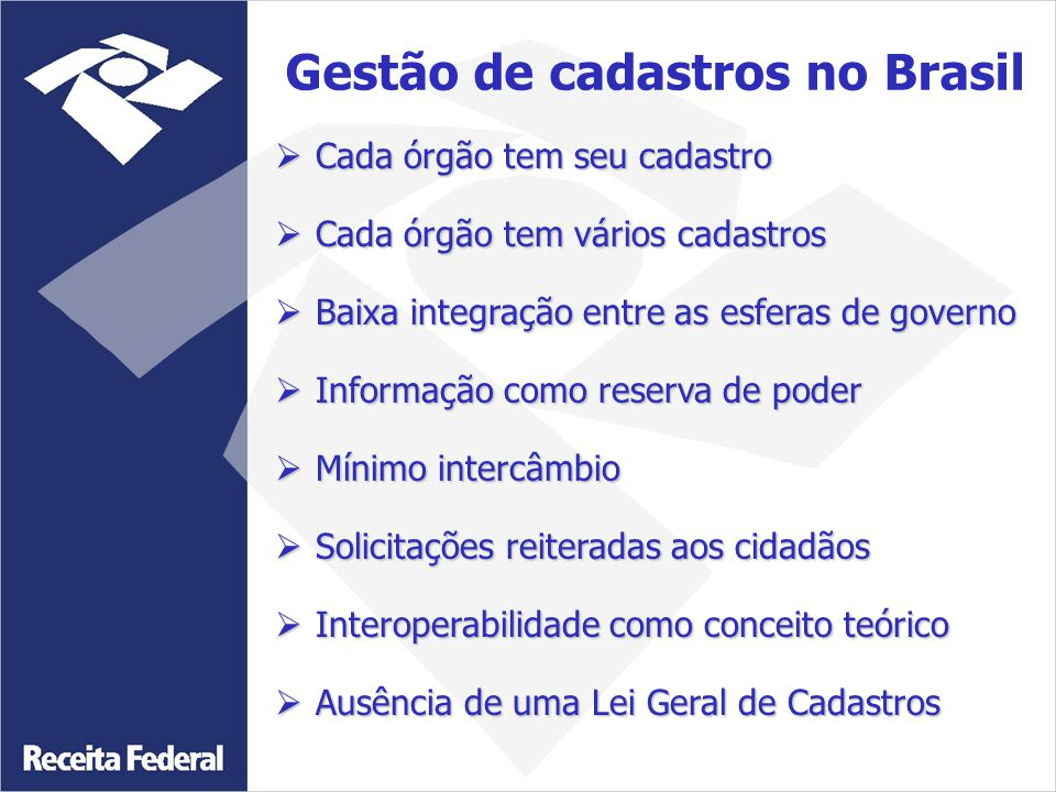 Gestão de cadastros no Brasil