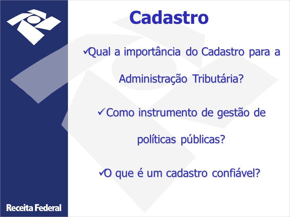 Cadastro Qual a importância do Cadastro para a Administração Tributária Como instrumento de gestão de políticas públicas