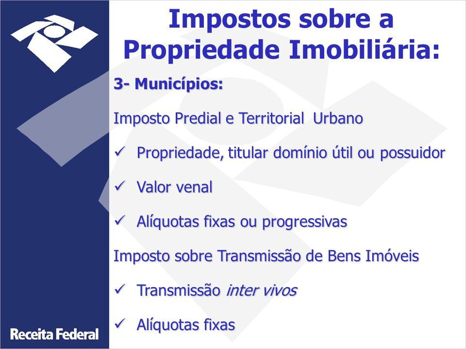 Impostos sobre a Propriedade Imobiliária: