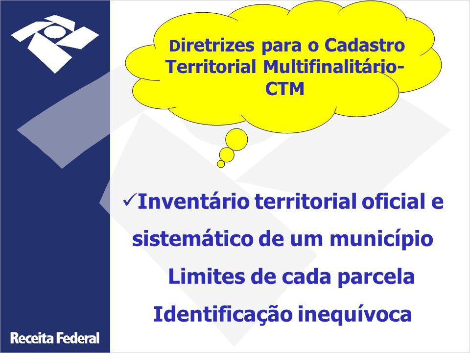 Diretrizes para o Cadastro Territorial Multifinalitário- CTM