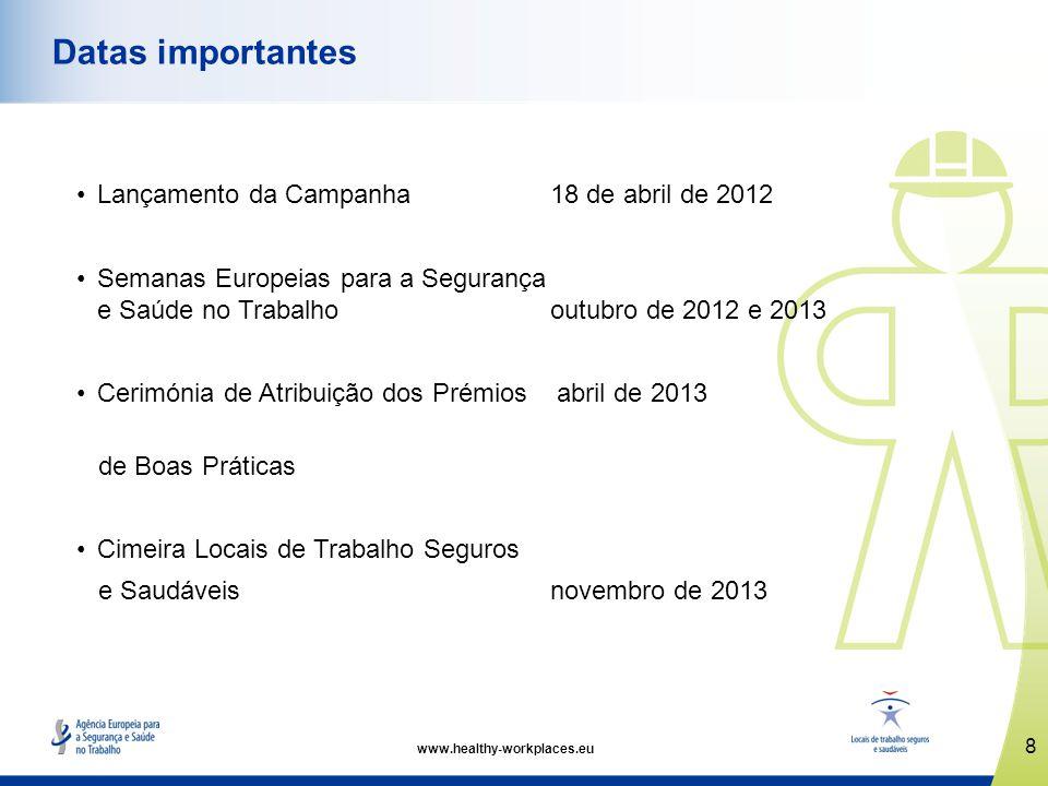 Datas importantes Lançamento da Campanha 18 de abril de 2012