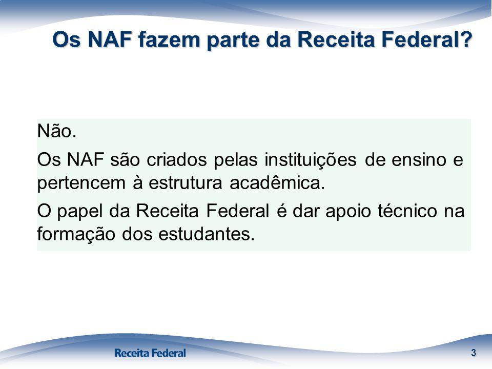Os NAF fazem parte da Receita Federal