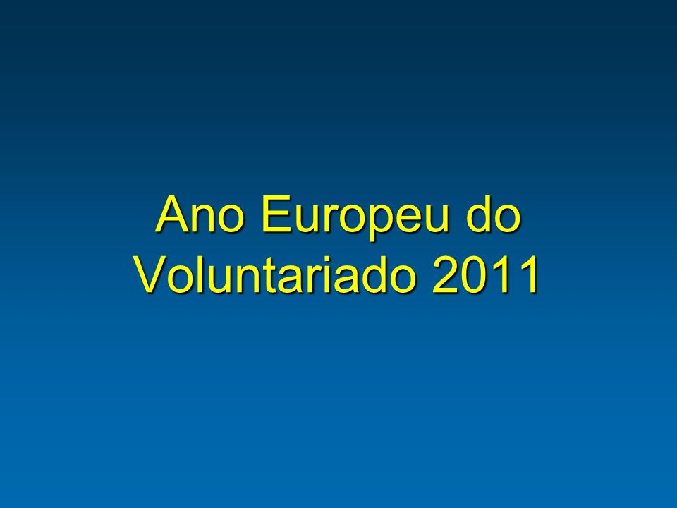 Ano Europeu do Voluntariado 2011