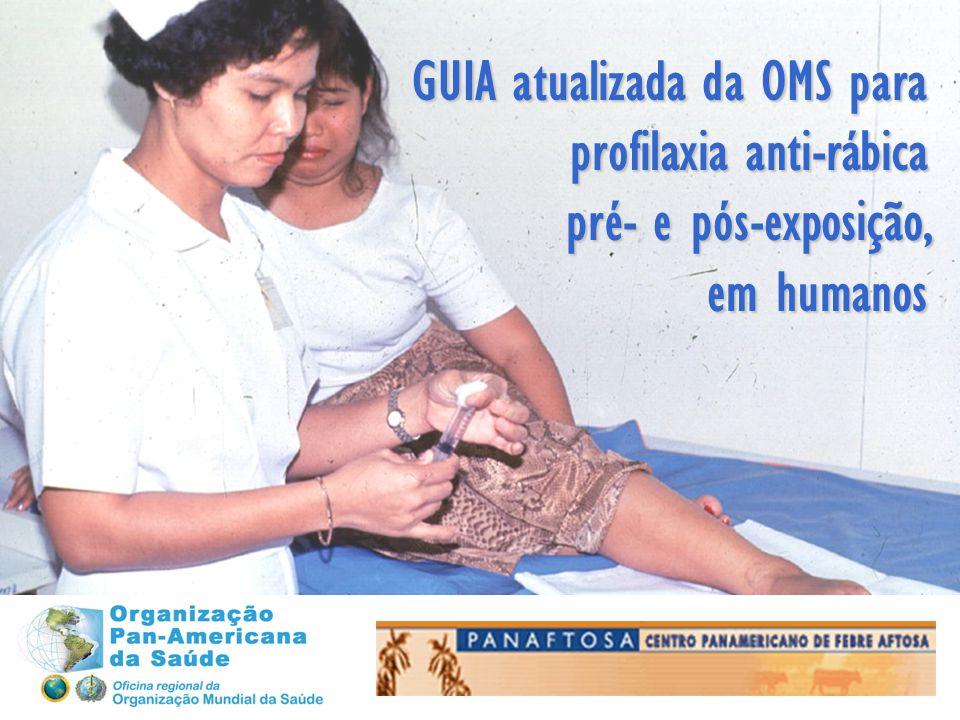 GUIA atualizada da OMS para profilaxia anti-rábica