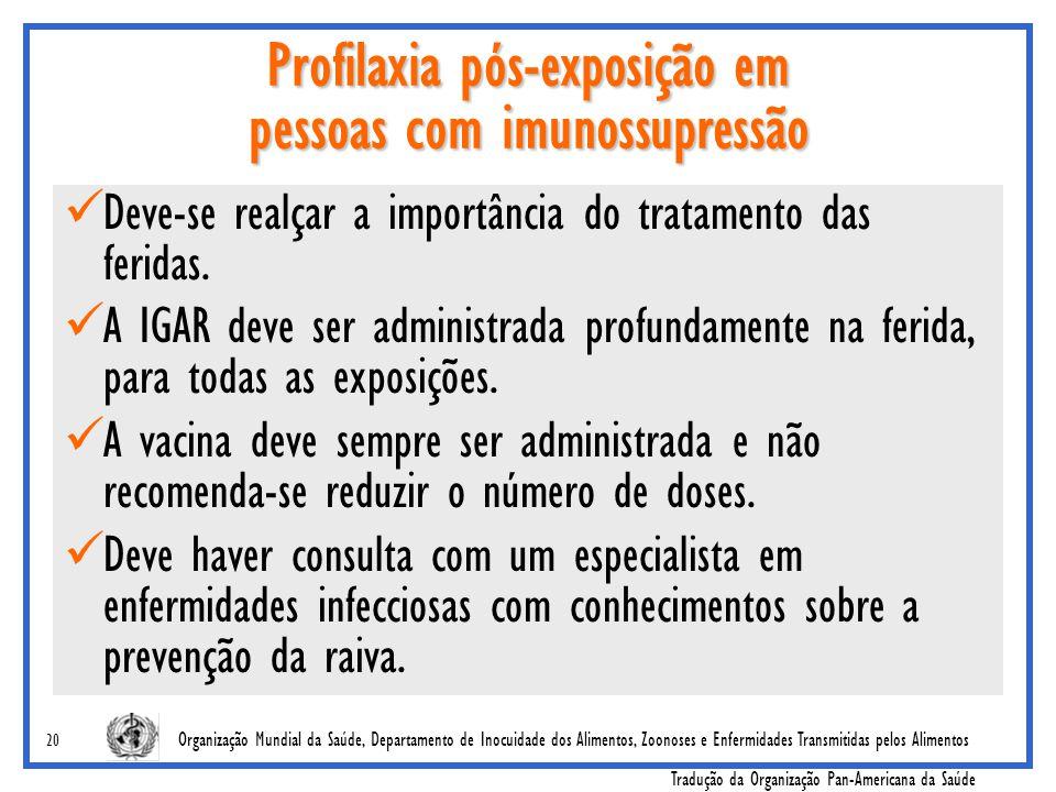 Profilaxia pós-exposição em pessoas com imunossupressão