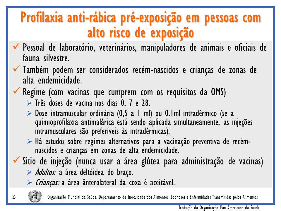 Profilaxia anti-rábica pré-exposição em pessoas com alto risco de exposição
