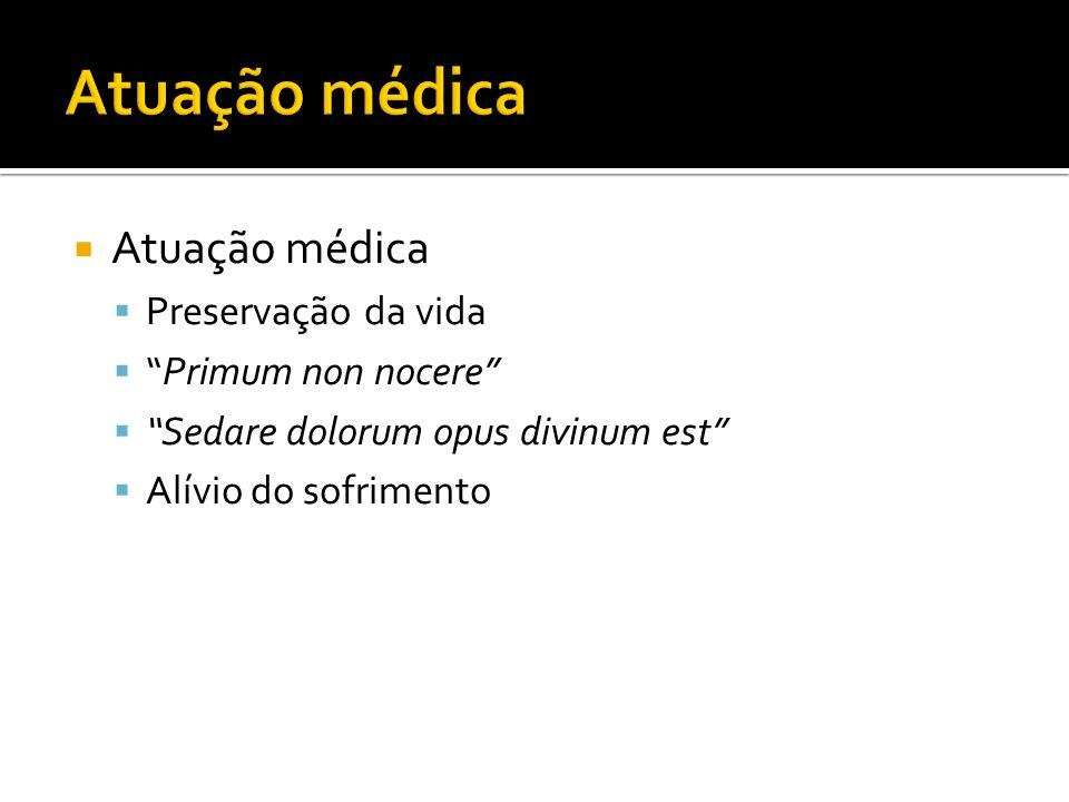Atuação médica Atuação médica Preservação da vida Primum non nocere