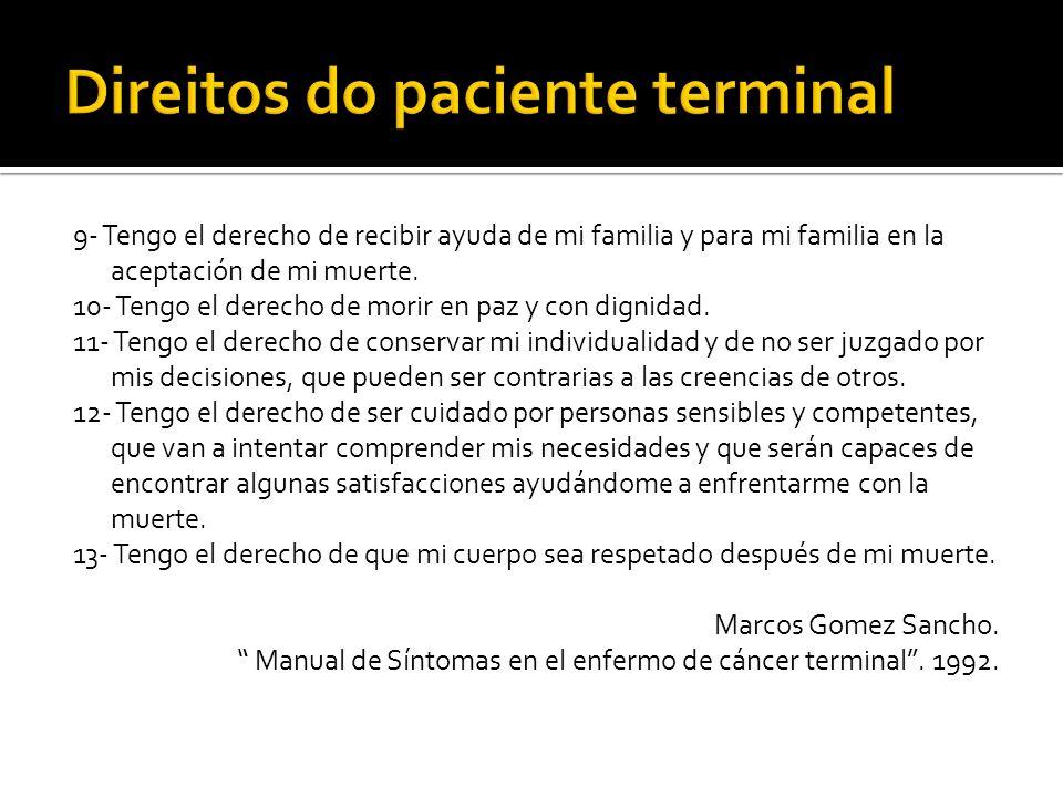 Direitos do paciente terminal