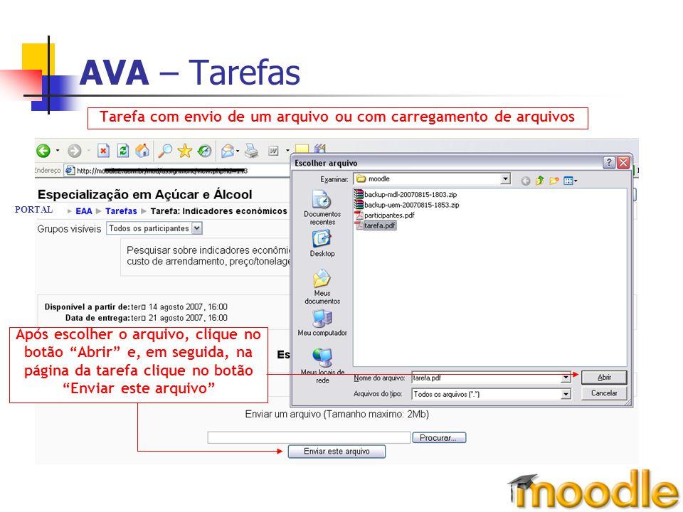 Tarefa com envio de um arquivo ou com carregamento de arquivos