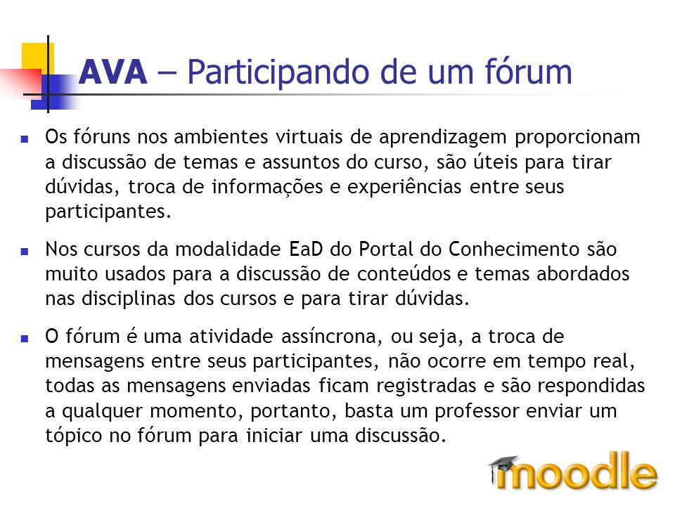 AVA – Participando de um fórum
