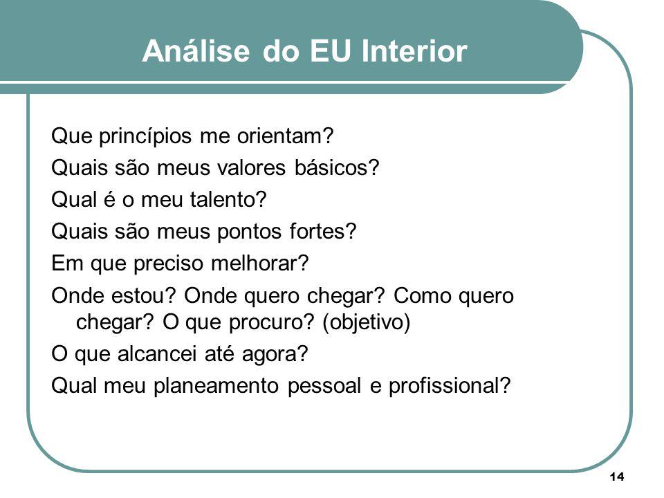 Análise do EU Interior Que princípios me orientam