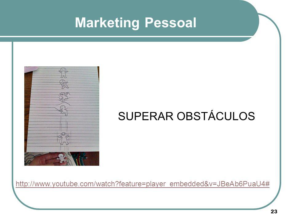 Marketing Pessoal SUPERAR OBSTÁCULOS