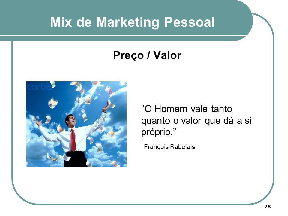 Mix de Marketing Pessoal