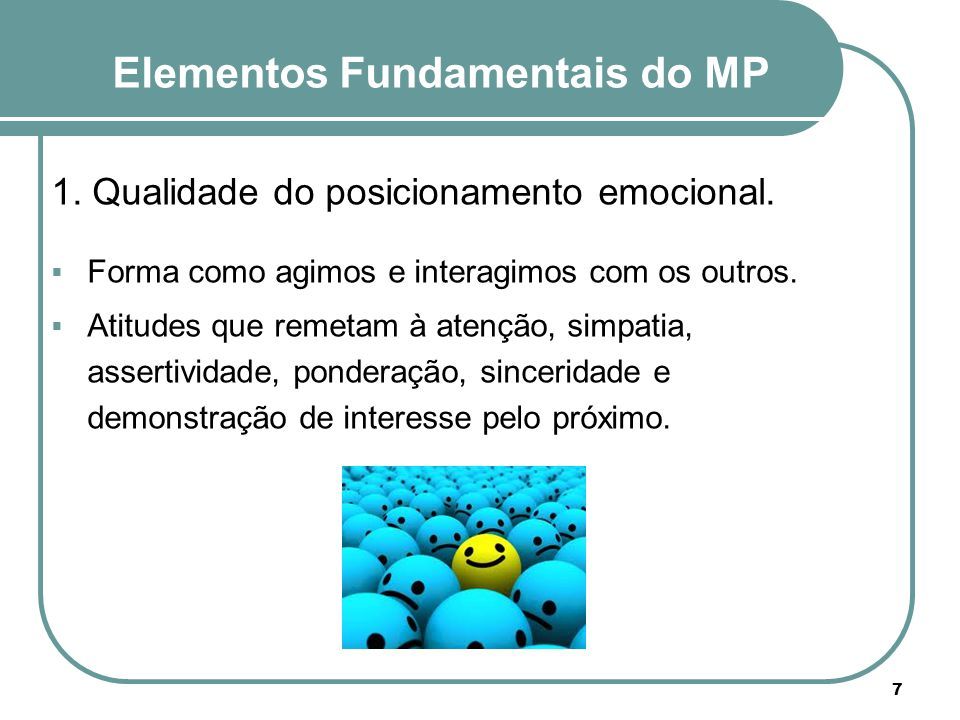 Elementos Fundamentais do MP