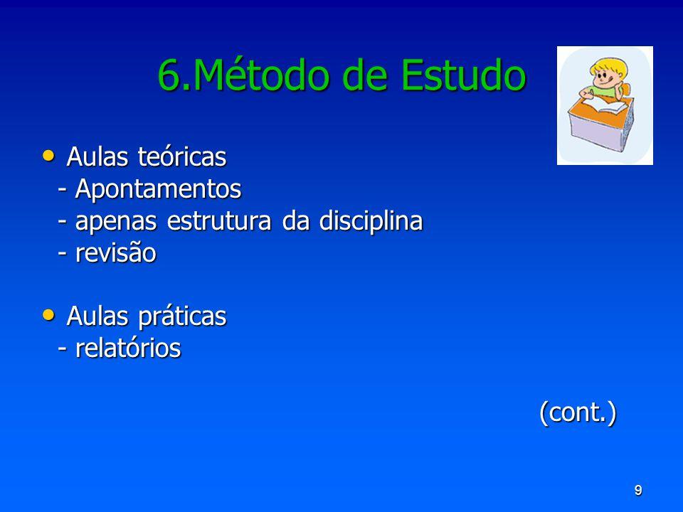 6.Método de Estudo Aulas teóricas - Apontamentos