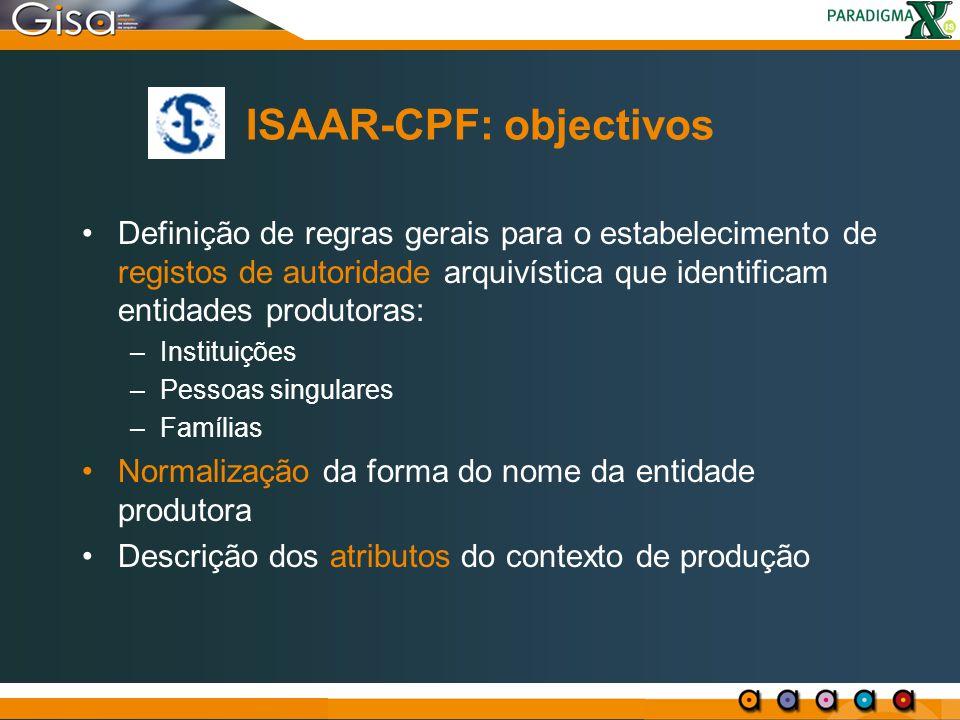 ISAAR-CPF: objectivos