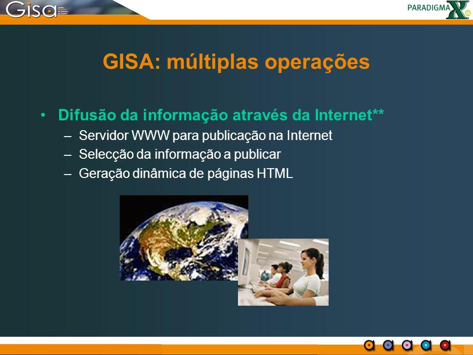 GISA: múltiplas operações