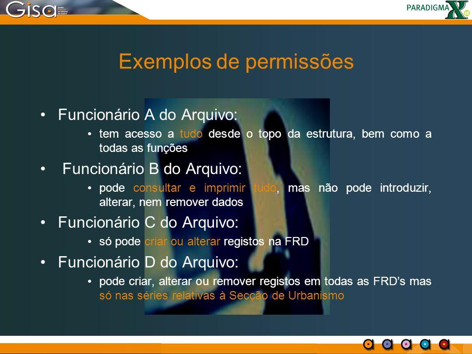 Exemplos de permissões