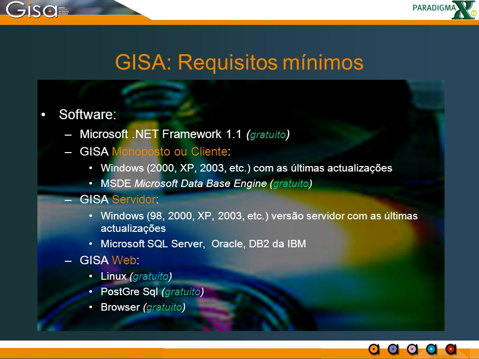 GISA: Requisitos mínimos