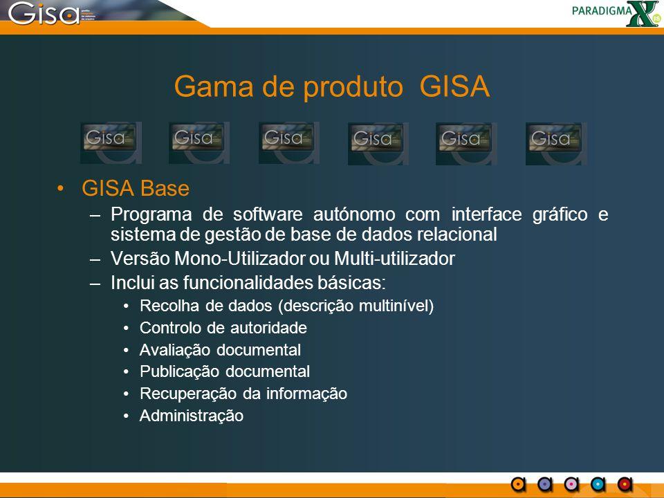 Gama de produto GISA GISA Base