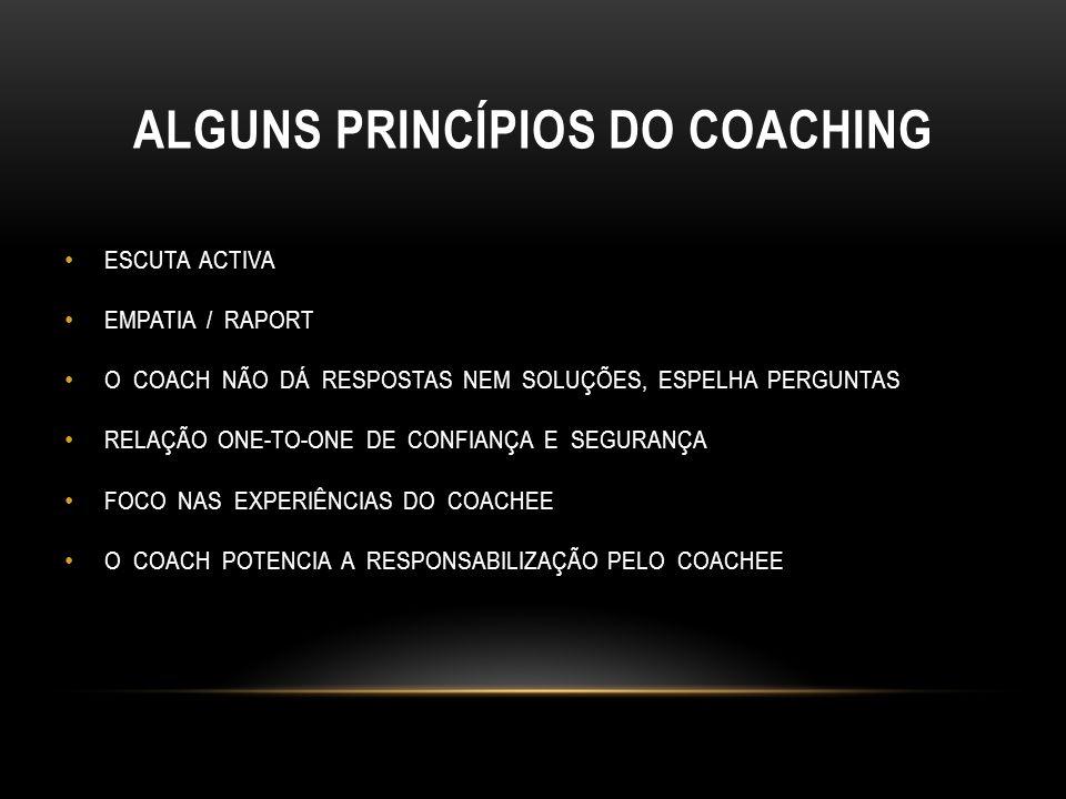 ALGUNS PRINCÍPIOS DO COACHING