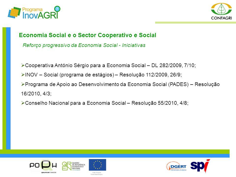 Economia Social e o Sector Cooperativo e Social