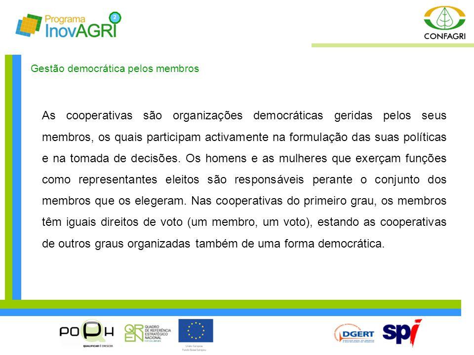 Gestão democrática pelos membros