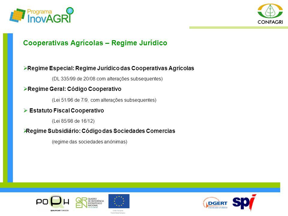 Cooperativas Agrícolas – Regime Jurídico
