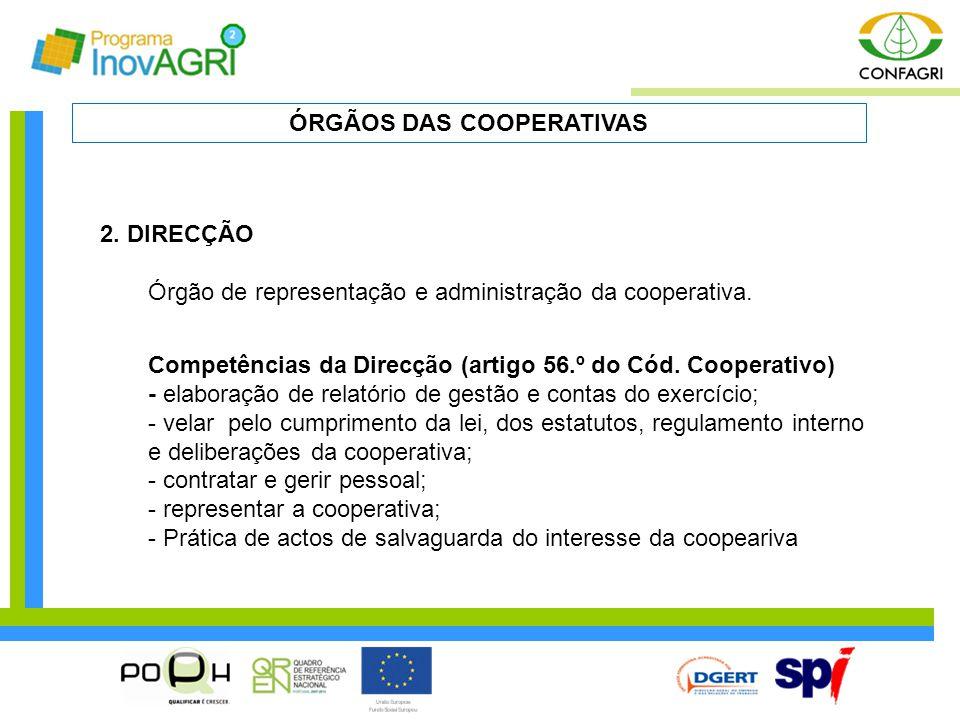 ÓRGÃOS DAS COOPERATIVAS