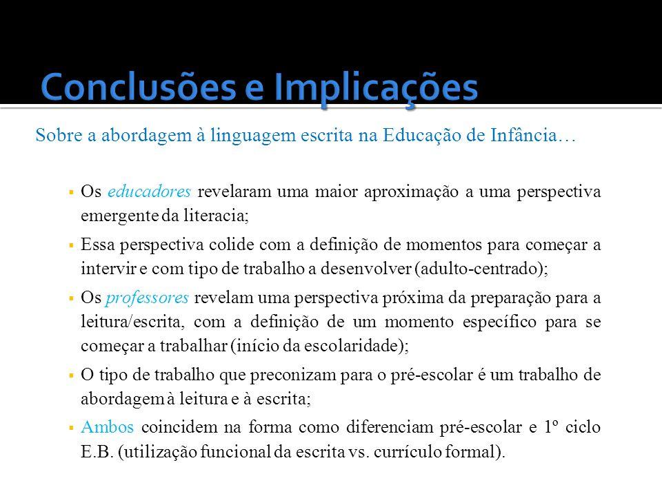 Conclusões e Implicações