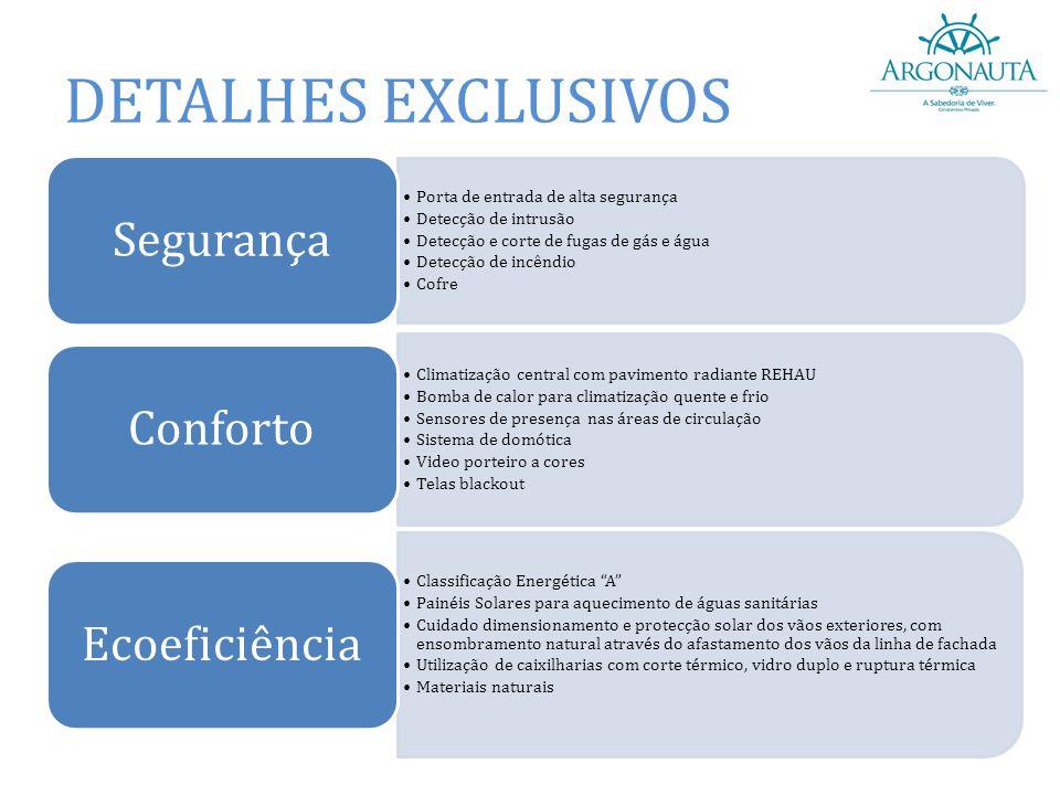 DETALHES EXCLUSIVOS Segurança Porta de entrada de alta segurança
