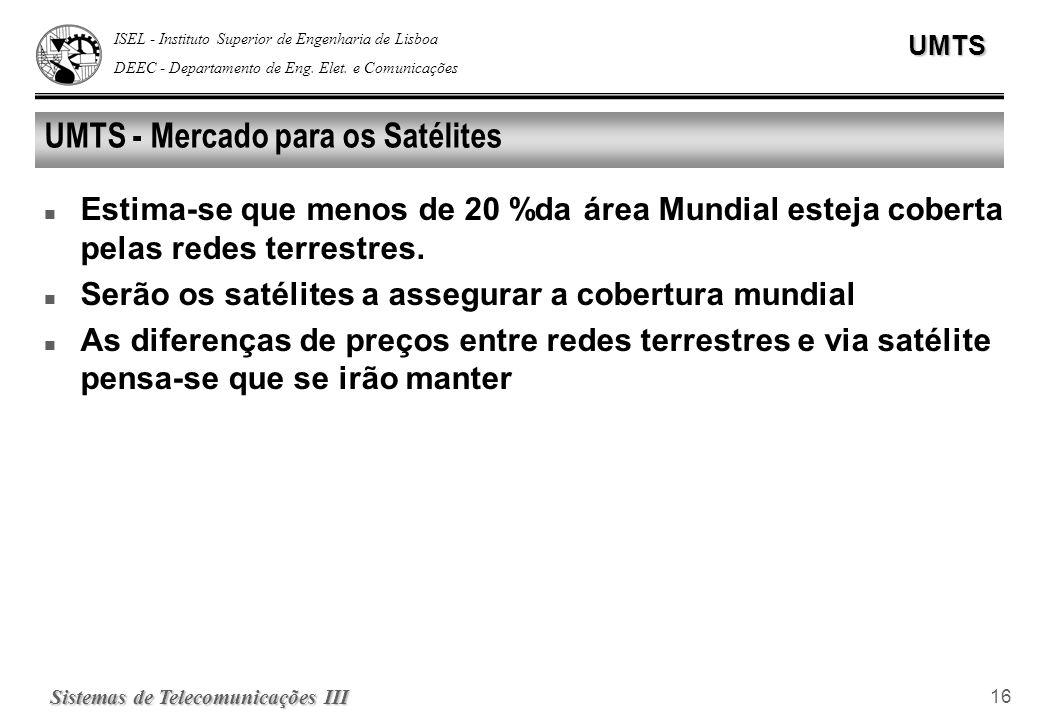UMTS - Mercado para os Satélites